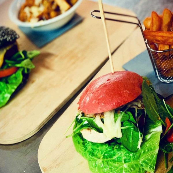 Burger essen im Landhaus Hohenwestedt
